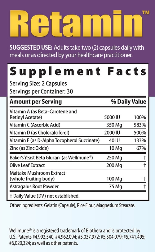 Retamin supplemental facts